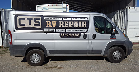 CTS RV's service vehicle